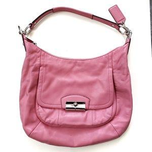 Coach / Kristin Leather Hobo Crossbody Bag